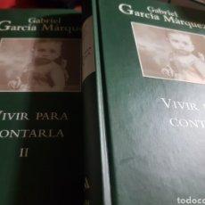 Libros: VIVIR PARA CONTARLA, DE GABRIEL GARCÍA MÁRQUEZ, EN DOS TOMOS. Lote 190041881