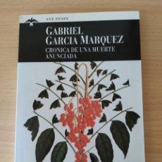 Libros: CRONICA DE UNA MUERTE ANUNCIADA. GABRIEL GARCÍA MÁRQUEZ. NUEVO. Lote 192698435