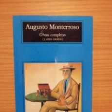 Libros: OBRAS COMPLETAS (Y OTROS CUENTOS) - AUGUSTO MONTERROSO - ANAGRAMA (COMPACTOS) - AUGUSTO MONTERROSO. Lote 197302836