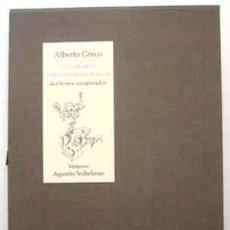 Libros: GRECO, ALBERTO - LA CANARIA. NECESIDAD DE MAGIA. DOS TEXTOS RECUPERADOS - PRIMERA EDICIÓN. Lote 202262405