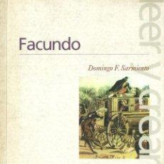 Libros: DOMINGO F. SARMIENTO - FACUNDO. Lote 208904255