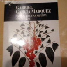 Libros: CRONICA DE UNA MUERTE ANUNCIADA. DE GABRIEL GARCIA MARQUEZ.PLAZA&JANES.EDICION DE BOLSILLO.. Lote 215830825