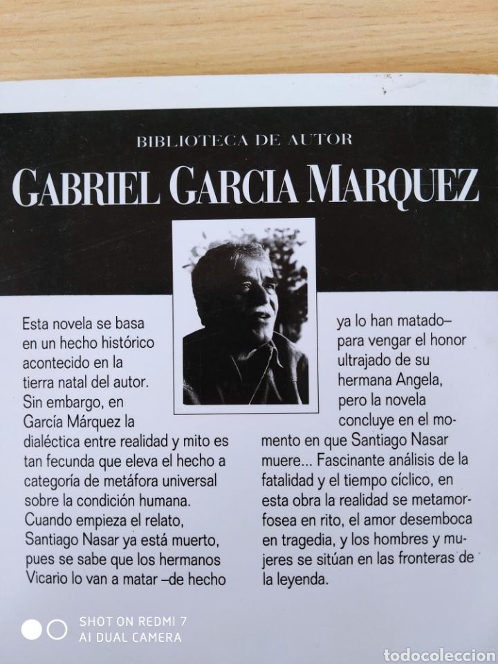 Libros: Cronica de una muerte anunciada. Gabriel Garcia Márquez. Nuevo - Foto 4 - 242959000