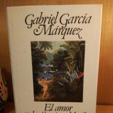 Libros: AMOR EN LOS TIEMPOS DEL CÓLERA. GABRIEL GARCÍA MÁRQUEZ.. Lote 253315280
