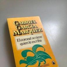 Libros: EL CORONEL NO TIENE QUIEN LE ESCRIBA-GABRIEL GARCÍA MARQUEZ. Lote 254185170