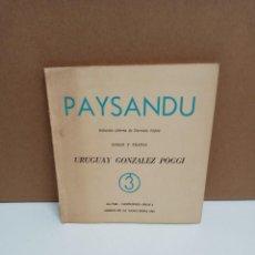 Libros: URUGUAY GONZALEZ POGGI - PAYSANDU - LIBROS DE LA VANGUARDIA. Lote 265184754
