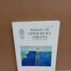 Libros: REVISTA ANALES DE LITERATURA CHILENA DICIEMBRE 2011 Nº 16 CENTRO DE ESTUDIOS LITERATURA CHILENA. Lote 265187614