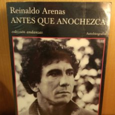 Libros: LEONARDO PADURA. ANTES QUE ANOCHEZCA. FORRADO CON PLÁSTICO. Lote 266419558