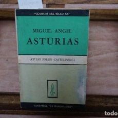 Libros: CASTELPOGGI ATILIO JORGE. MIGUEL ANGEL ASTURIAS.. Lote 271104453