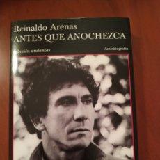 Libros: ANTES QUE ANOCHEZCA. Lote 277538248