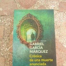 Libros: CRÓNICA DE UNA MUERTE ANUNCIADA - GABRIEL GARCÍA MÁRQUEZ. Lote 278865878