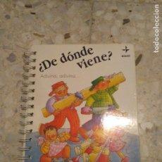 Libros: ¿DE DONDE VIENE? ADIVINA, ADIVINA…. Lote 83025736