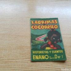 Libros: CUENTO LÁGRIMAS DE COCODRILO. CUENTOS ENANO. SERIE D 7. FARMACIA J. MESTRE SALA. BARCELONA?. Lote 91925055
