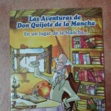 Libros: LAS AVENTURAS DE DON QUIJOTE DE LA MANCHA EN UN LUGAR DE LA MANCHA. Lote 95859491