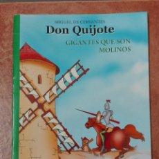 Libros: DON QUIJOTE GIGANTES QUE SON MOLINOS LIBRO HOBBY. Lote 95859651