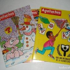 Libros: 3 NUMEROS DE LA REVISTA INFANTIL AGUILUCHOS DE LOS AÑOS 90 Y 91. Lote 109157627