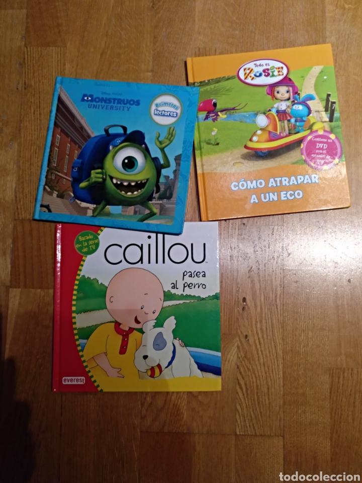 LOTE 3 LIBRO LIBRO.INFANTIL. MONSTRUOS UNIVERSITY DISNEY. CAILLOU Y TODO ES ROSIE. (Libros Nuevos - Literatura Infantil y Juvenil - Literatura Infantil)