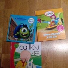 Libros: LOTE 3 LIBRO LIBRO.INFANTIL. MONSTRUOS UNIVERSITY DISNEY. CAILLOU Y TODO ES ROSIE.. Lote 112454950