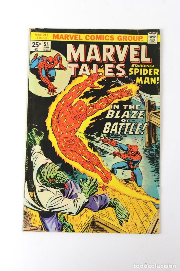 RV-54. MARVEL TALES . SPIDERMAN. IN THE BLAZE OF BATTLE! Nº 58. 1975. (Libros Nuevos - Literatura Infantil y Juvenil - Literatura Infantil)