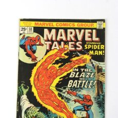 Libros: RV-54. MARVEL TALES . SPIDERMAN. IN THE BLAZE OF BATTLE! Nº 58. 1975.. Lote 120224791