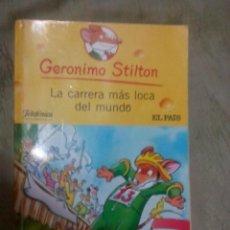 Libros: LIBRO GERONIMO STILTON. LA CARRERA MÁS LOCA DEL MUNDO. DESTINO. Lote 150171686