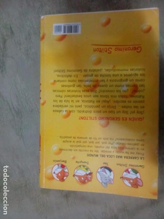 Libros: libro GERONIMO STILTON. LA CARRERA MÁS LOCA DEL MUNDO. DESTINO - Foto 3 - 150171686