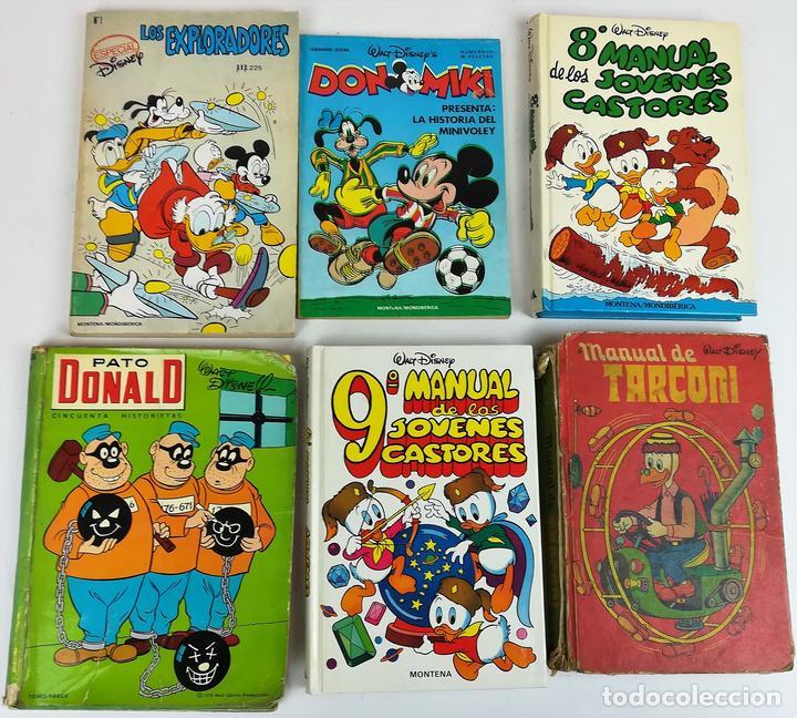 LOTE DE 5 EJEMPLARES WALT DISNEY. VV. AA. VV. EDITORIALES. 1974/1987 (Libros Nuevos - Literatura Infantil y Juvenil - Literatura Infantil)