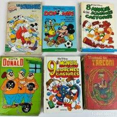 Libros: LOTE DE 5 EJEMPLARES WALT DISNEY. VV. AA. VV. EDITORIALES. 1974/1987. Lote 155195006