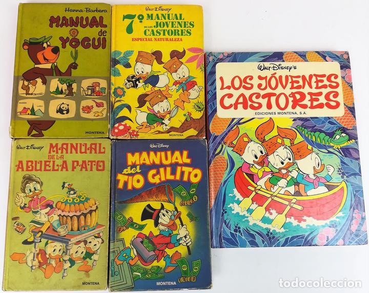 4 EJEMPLARES WALT DISNEY. 1 HANNA-BARBERA. VV. AA. EDICIONES MONTENA. S.A. 1972/1983 (Libros Nuevos - Literatura Infantil y Juvenil - Literatura Infantil)