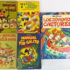 Libros: 4 EJEMPLARES WALT DISNEY. 1 HANNA-BARBERA. VV. AA. EDICIONES MONTENA. S.A. 1972/1983. Lote 155205602