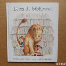 Libros: LEÓN DE BIBLIOTECA - KNUDSEN, MICHELLE - NUEVO. Lote 160468410