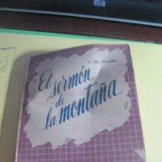 Libros: EL SERMON DE LA MONTAÑA EDITORIAL DIFUSION. Lote 165106794