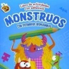 Libros: MONSTRUOS: LIBRO DE ACTIVIDADES CON ADHESIVOS Y ESCENARIOS DESPLAGABLES. Lote 165206476