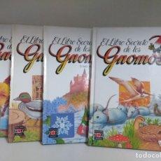 Livres: LOTE DE 4 LIBROS EL LIBRO SECRETO DE LOS GNOMOS PARA NIÑOS COLECCION DE TOMOS. Lote 169067056