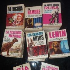Libros: 45-MINI LIBROS BRUGUERA EN 25000 PALABRAS( CONTIENE EL NUMERO 1). Lote 173899994