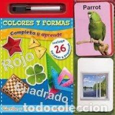 Libros: LOS COLORES. COMPLETA Y APRENDE - TAPA DURA - AA.VV. HOJAS DE CARTÓN INCLUYE ROTULADOR. Lote 183471566