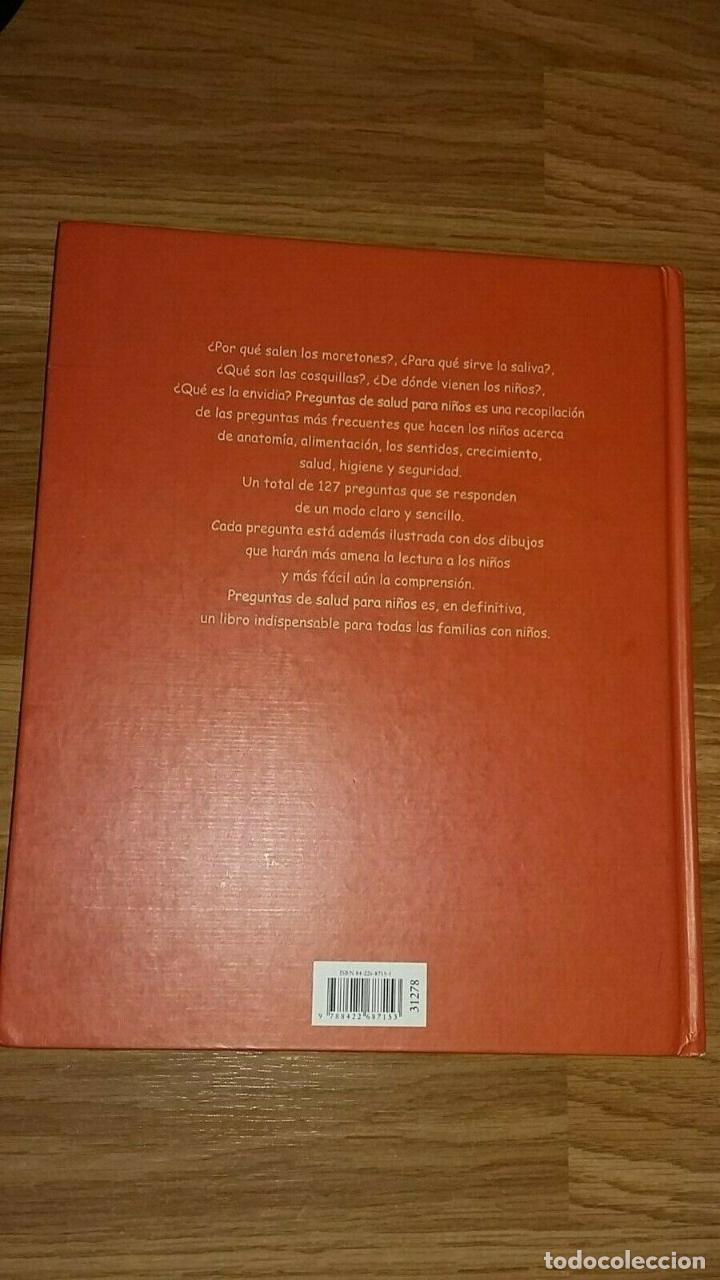 Libros: LIBRO PREGUNTAS DE SALUD PARA NIÑOS - Foto 2 - 193968135