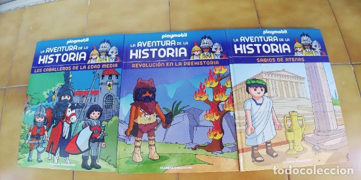 LA AVENTURA DE LA HISTORIA,PLAYMOBIL,TRES LIBROS TAPA DURA,NUEVOS,AÑO 2017,CADA UNO TIENE 24 PAGINAS (Libros Nuevos - Literatura Infantil y Juvenil - Literatura Infantil)