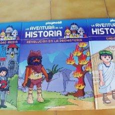 Libros: LA AVENTURA DE LA HISTORIA,PLAYMOBIL,TRES LIBROS TAPA DURA,NUEVOS,AÑO 2017,CADA UNO TIENE 24 PAGINAS. Lote 217843960