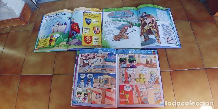 Libros: la aventura de la historia,playmobil,tres libros tapa dura,nuevos,año 2017,cada uno tiene 24 paginas - Foto 2 - 217843960