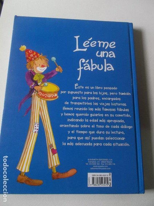 Libros: Léeme una fábula. Ilustraciones Pilar Campos. Edit. Susaeta. Tapa dura. - Foto 2 - 218189788