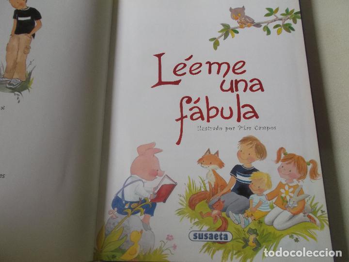 Libros: Léeme una fábula. Ilustraciones Pilar Campos. Edit. Susaeta. Tapa dura. - Foto 3 - 218189788