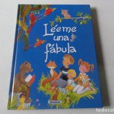 Libros: LÉEME UNA FÁBULA. ILUSTRACIONES PILAR CAMPOS. EDIT. SUSAETA. TAPA DURA.. Lote 218189788