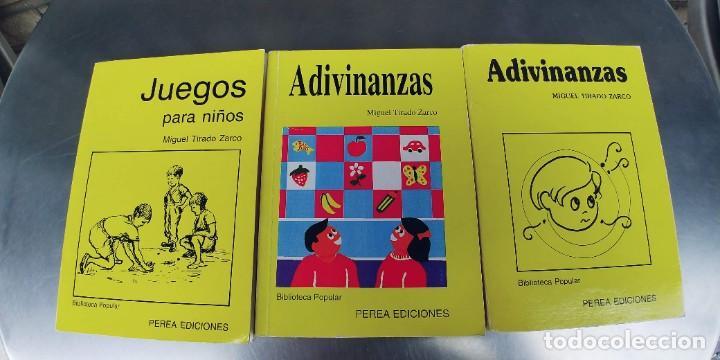 JUEGOS PARA NIÑOS Y ADIVINANZAS-PEREA EDICIONES AÑO 1987-MIDEN 17 X 12 CTM (Libros Nuevos - Literatura Infantil y Juvenil - Literatura Infantil)