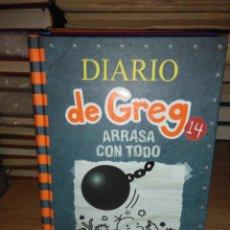 Livres: JEFF KINNEY.DIARIO DE GREG 14 (ARRASA CON TODO).RBA. Lote 230448960