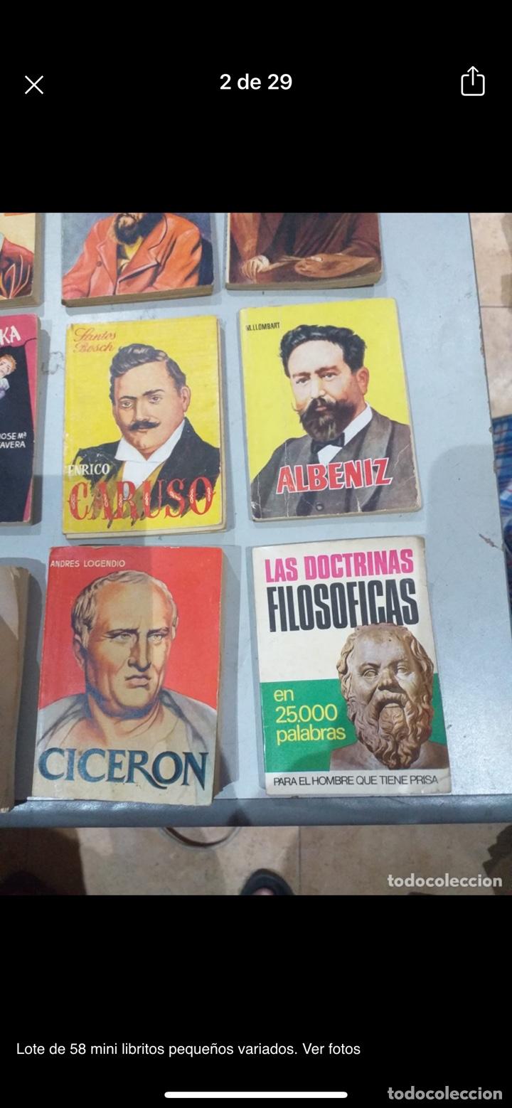 Libros: Lote de 58 mini libritos pequeños variados. Ver fotos - Foto 2 - 235279770