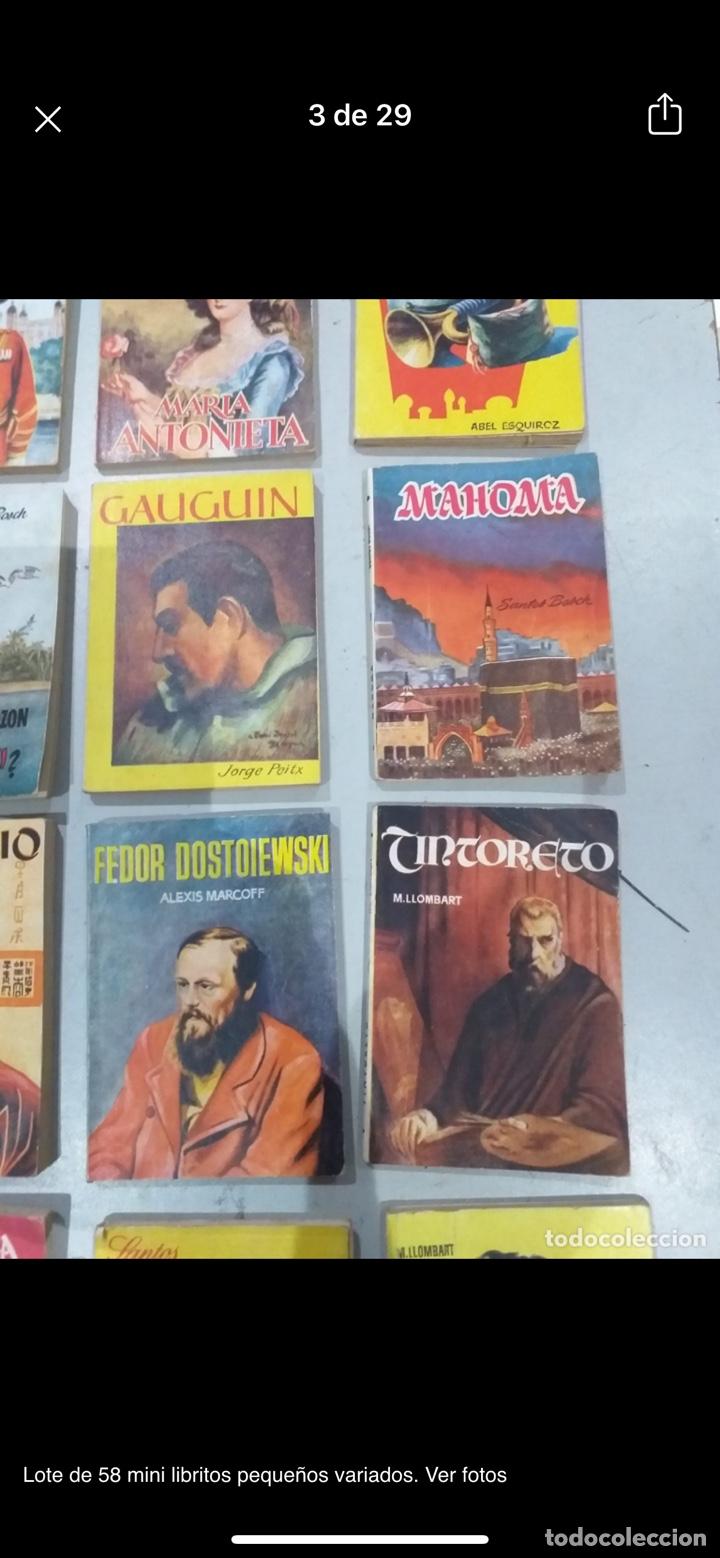 Libros: Lote de 58 mini libritos pequeños variados. Ver fotos - Foto 3 - 235279770