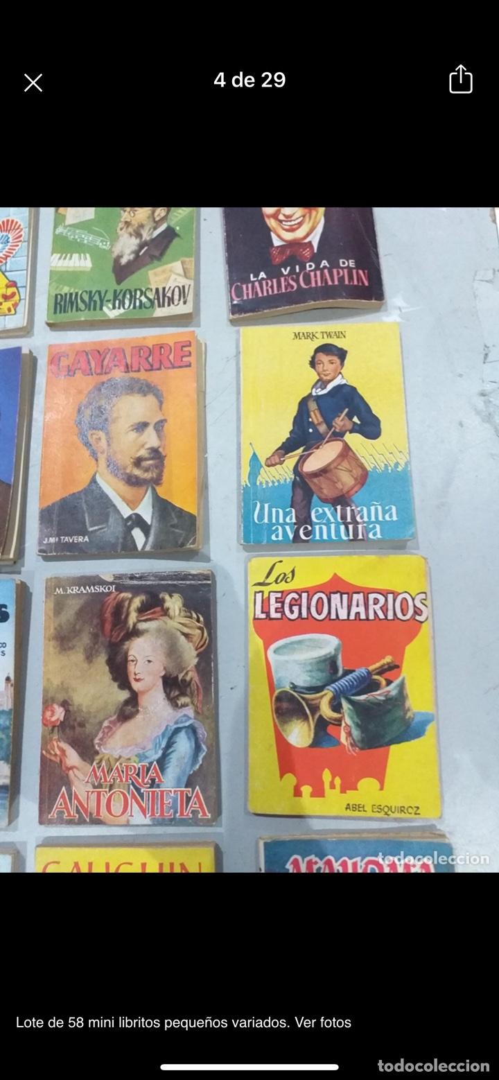 Libros: Lote de 58 mini libritos pequeños variados. Ver fotos - Foto 4 - 235279770