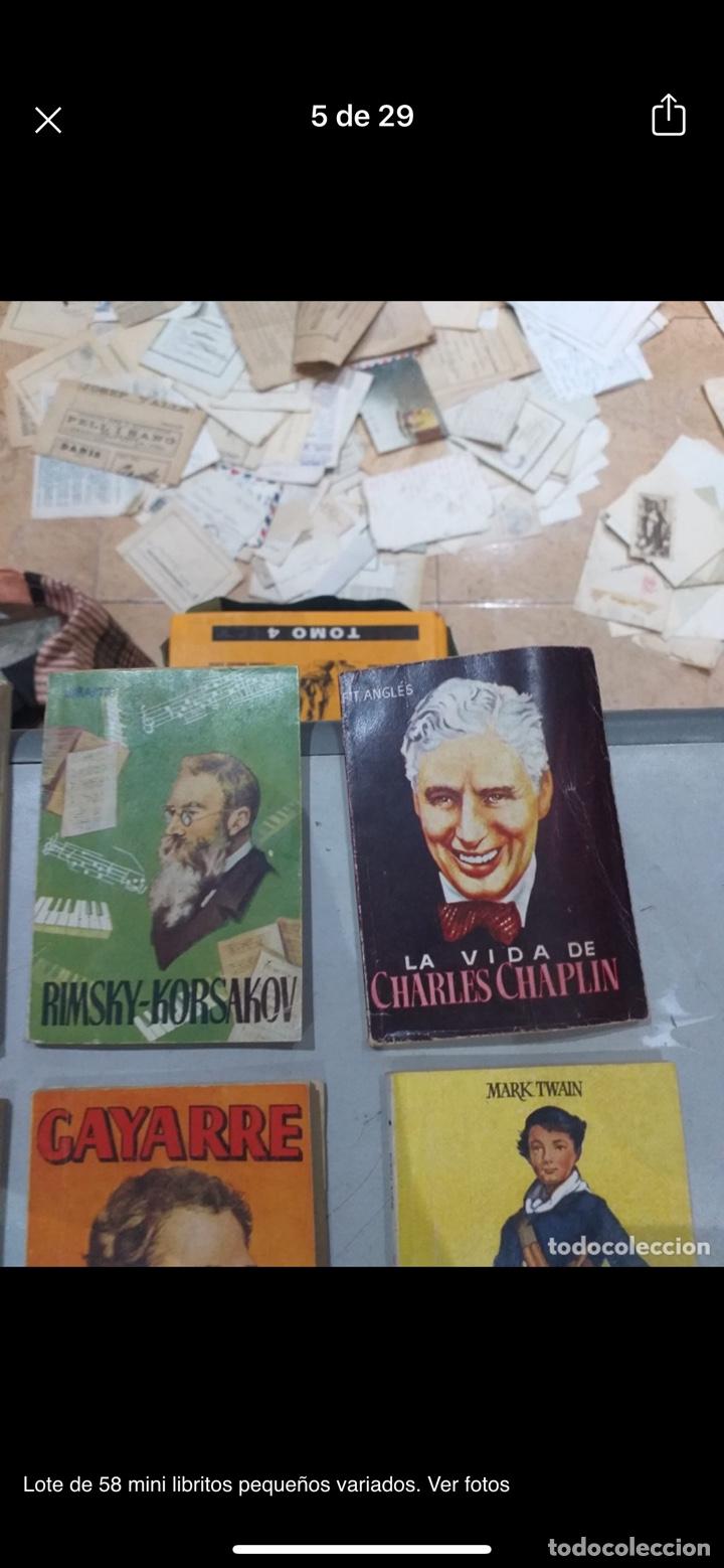 Libros: Lote de 58 mini libritos pequeños variados. Ver fotos - Foto 5 - 235279770