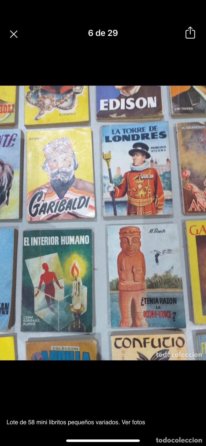 Libros: Lote de 58 mini libritos pequeños variados. Ver fotos - Foto 6 - 235279770